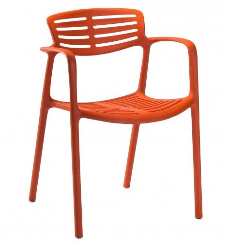 TOLEDO AIRE Armlehnenstuhl in orange-rot