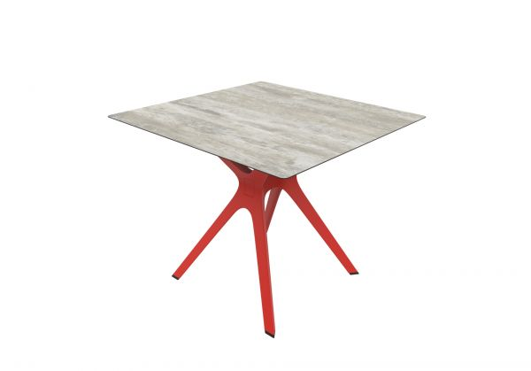 VELA S-Tisch HPL-Tischplatte im Holzformat